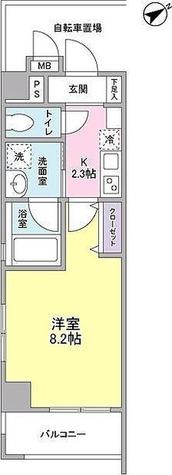メゾンピオニ-都立大学 / 1K(26.66㎡) 部屋画像1
