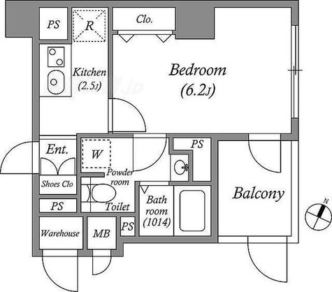 A&Eレジデンス横濱石川町 / D'タイプ(23.70㎡) 部屋画像1