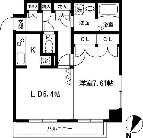 ニューシティアパートメンツ久が原 / 1LDK(43.23㎡) 部屋画像1