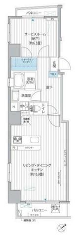 ベルテンポ赤坂 / 501 部屋画像1