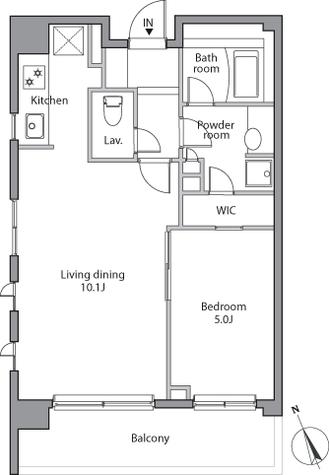 レジディア赤坂 / 1階 部屋画像1