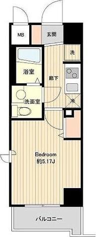 プライムアーバン板橋区役所前 / 1K(21.17㎡) 部屋画像1