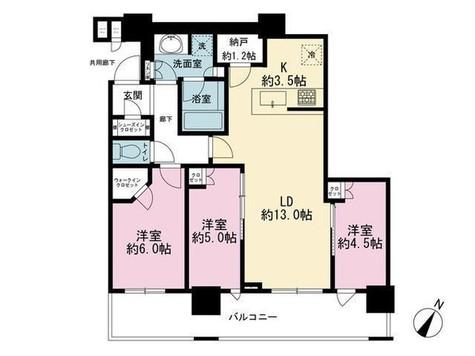 ブリリア ザ・タワー東京八重洲アヴェニュー / 4階 部屋画像1