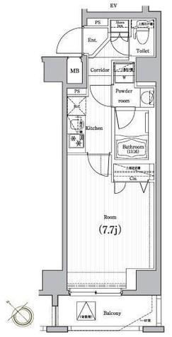 プレミアムキューブ・ジー・駒沢大学 / 201 部屋画像1
