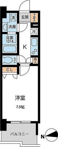 アーデン浅草橋 / Bタイプ(25.07㎡) 部屋画像1
