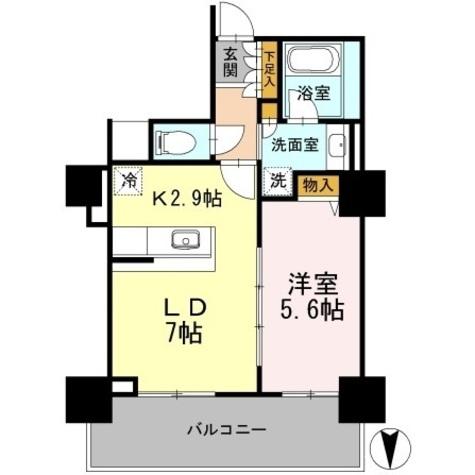 カスタリアタワー長堀橋 / 1LDK41.98㎡-3 部屋画像1