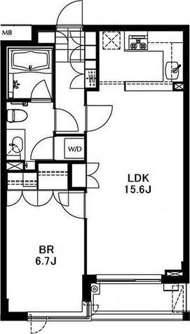 南麻布ウエスト / 2階 部屋画像1