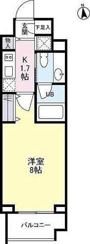 RIZ中目黒(リズ中目黒) / 1K(26.19㎡) 部屋画像1