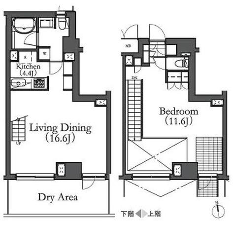 ルフォンプログレ学芸大学(旧名:アパートメンツ学芸大学) / -1階 部屋画像1