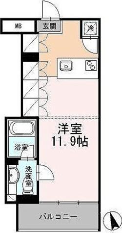 カスタリア目黒長者丸(旧イプセ目黒) / ワンルーム(29.54㎡) 部屋画像1