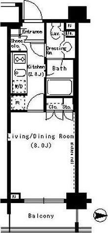 パークアクシス浜松町 / 1K(26.06㎡) 部屋画像1