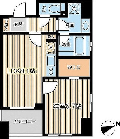 KWレジデンス芝公園 / Aタイプ(42.55㎡) 部屋画像1