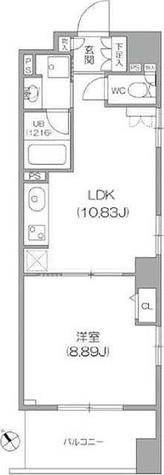 KWレジデンス新川 / 1LDK(43.10㎡) 部屋画像1
