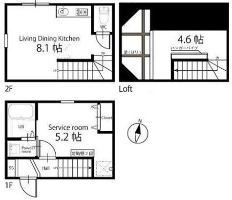 ハーミットクラブハウス自由が丘Ⅱ / Aタイプ 部屋画像1