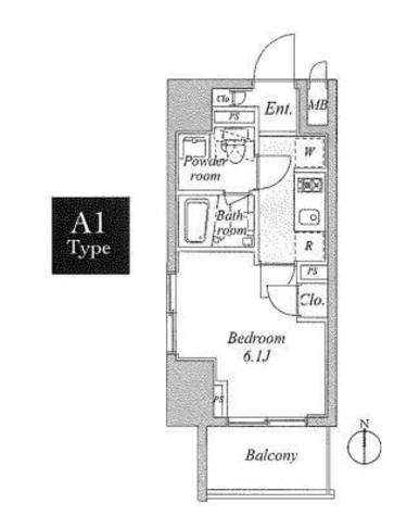 プラウドフラット神楽坂Ⅱ / 3階 部屋画像1