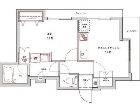 プライムアーバン三軒茶屋Ⅲ / 1DK(35.33㎡) 部屋画像1