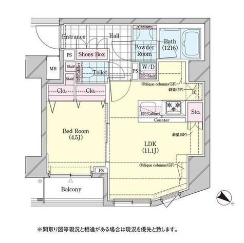 ディームス品川戸越 / 510 部屋画像1
