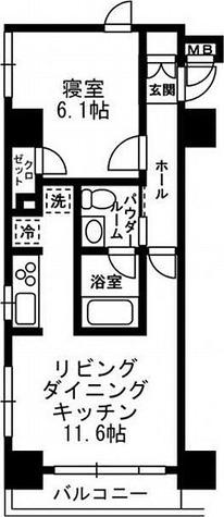 レジディア月島Ⅲ / 1階 部屋画像1