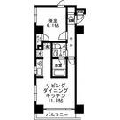 レジディア月島Ⅲ / Aタイプ(40.21㎡) 部屋画像1