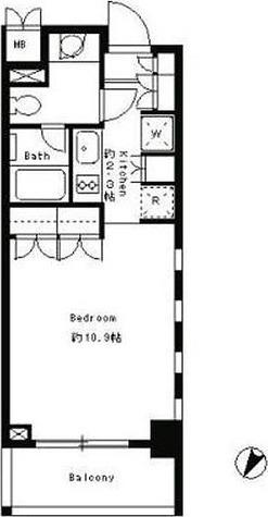 パークキューブ目黒タワー / STUDIO(33.56㎡) 部屋画像1