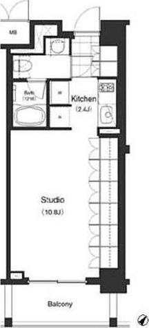 パークキューブ目黒タワー / STUDIO(35.51㎡) 部屋画像1