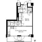 パークキューブ目黒タワー / 1LDK(49.26㎡) 部屋画像1