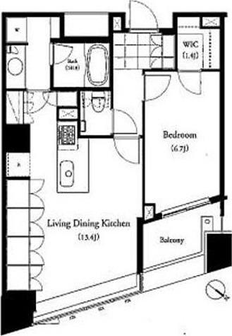 パークキューブ目黒タワー / 1LDK(54.98㎡) 部屋画像1