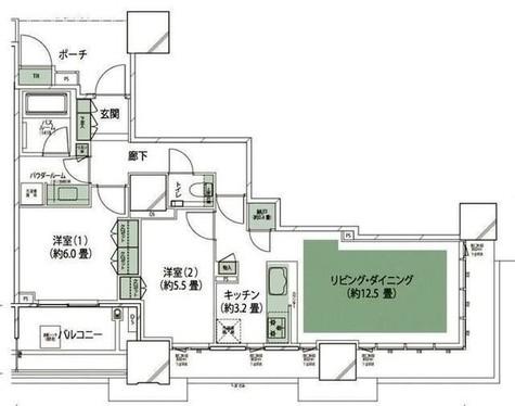 Duex Tour ドゥ・トゥール / 38階 部屋画像1
