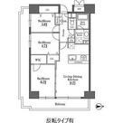 レジディア芝浦(旧パシフィックレジデンス芝浦) / 3LDK(62.90㎡) 部屋画像1