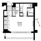 フレンシア外苑西 / ワンルーム(35.76㎡) 部屋画像1