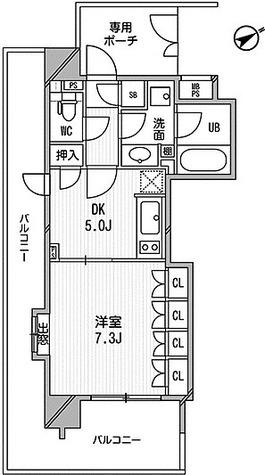 ライオンズシティ白金高輪 / A1タイプ(33.80㎡) 部屋画像1