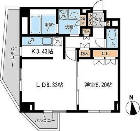 レジデンス白金コローレ(旧アパートメンツ白金コローレ) / 1階 部屋画像1