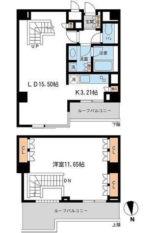 レジデンス白金コローレ(旧アパートメンツ白金コローレ) / M-Tタイプ 部屋画像1