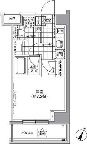 パークハビオ北品川 / 1K(24.55㎡) 部屋画像1