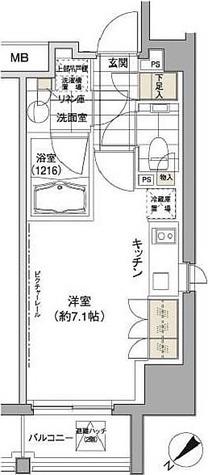 パークハビオ渋谷 / 1K(24.66㎡) 部屋画像1
