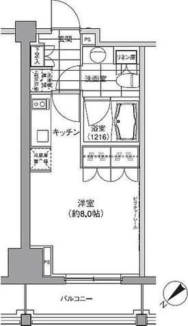 パークハビオ渋谷 / 1K(24.11㎡) 部屋画像1