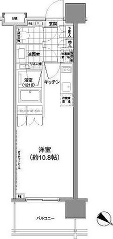パークハビオ渋谷神山町 / 1階 部屋画像1