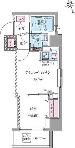 クレヴィアリグゼ世田谷松陰神社前 / Eタイプ(25.08㎡) 部屋画像1