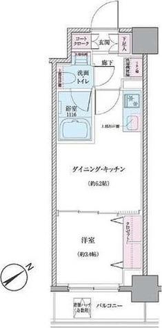 クレヴィアリグゼ世田谷松陰神社前 / Aタイプ(25.00㎡) 部屋画像1