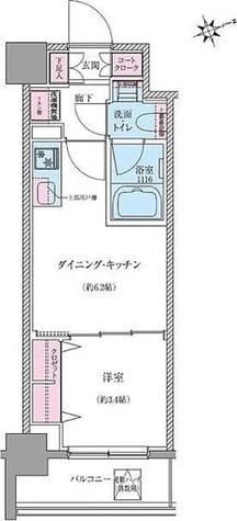 クレヴィアリグゼ世田谷松陰神社前 / Hタイプ(25.00㎡) 部屋画像1