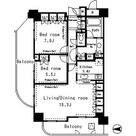 パークアクシス四谷ステージ / 2LDK(72.29㎡) 部屋画像1