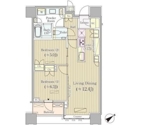 Brillia Towers目黒 ノースレジデンス / 2409 部屋画像1