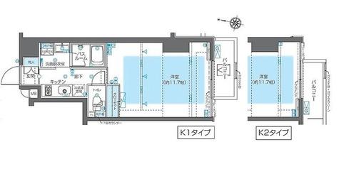 ZOOM神宮前(ズーム神宮前) / Kタイプ 部屋画像1