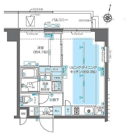 ZOOM神宮前(ズーム神宮前) / Pタイプ 部屋画像1