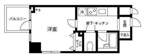 プライムアーバン飯田橋 / 1K(22.01㎡) 部屋画像1