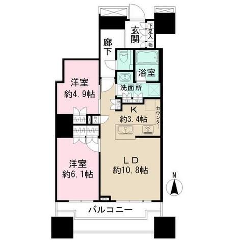 富久クロスコンフォートタワー / 303 部屋画像1