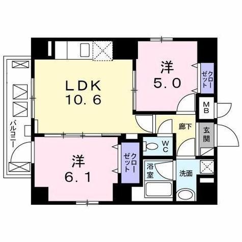 TR白金 / 3階 部屋画像1