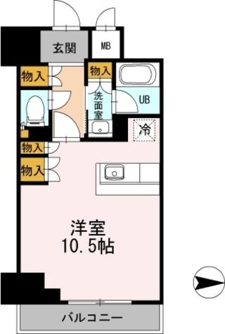 カスタリア栄 / ワンルーム(34.59㎡) 部屋画像1