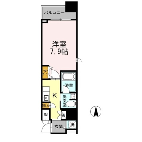 カスタリア堺筋本町 / 1K(27.59㎡) 部屋画像1