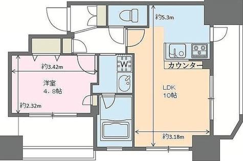 ドゥーエ新川 / Dタイプ(40.33㎡) 部屋画像1